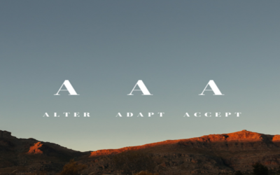 Can you alter, adapt and accept?